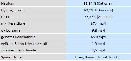 Therme Geinberg Wasseranalyse